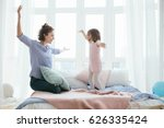 young mother and her little...   Shutterstock . vector #626335424