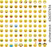 100 smiley face emoji icons | Shutterstock .eps vector #626337656