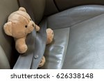 safety seat belt to teddy bear... | Shutterstock . vector #626338148