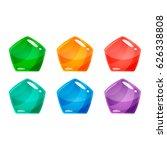 set of cartoon cool shiny...   Shutterstock .eps vector #626338808