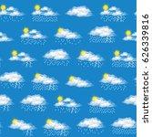 meteorology seamless background ... | Shutterstock .eps vector #626339816
