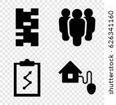 management icons set. set of 4... | Shutterstock .eps vector #626341160