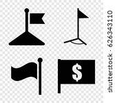 flag icons set. set of 4 flag...