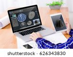 cad engineer's workplace. close ...   Shutterstock . vector #626343830