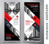 business roll up. standee... | Shutterstock .eps vector #626351444