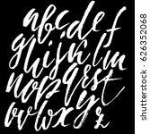 hand drawn font. modern dry... | Shutterstock .eps vector #626352068
