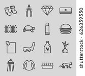 isolated icons set. set of 16... | Shutterstock .eps vector #626359550