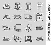 cargo icons set. set of 16... | Shutterstock .eps vector #626361800