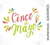 cinco de mayo. hand drawn... | Shutterstock .eps vector #626365823