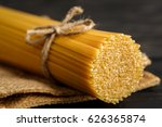 close up spaghetti noodle raw... | Shutterstock . vector #626365874