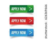 apply now button set | Shutterstock .eps vector #626369666