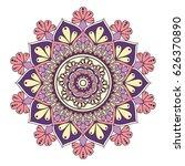 flower mandalas. vintage... | Shutterstock .eps vector #626370890