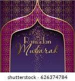 ramadan mubarak. vector... | Shutterstock .eps vector #626374784