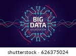 big data visualization. fractal ... | Shutterstock .eps vector #626375024