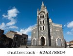 cathedral of randazzo  catania  ... | Shutterstock . vector #626378804