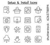 setup   configuration ... | Shutterstock .eps vector #626378894