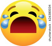 loudly crying face emoji | Shutterstock .eps vector #626380034