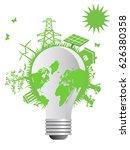 clean eco light bulb | Shutterstock .eps vector #626380358