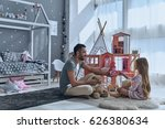 enjoying time together. father... | Shutterstock . vector #626380634