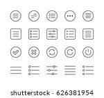 set of menu vector line icons....
