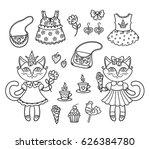 vector  illustration  outline ... | Shutterstock .eps vector #626384780