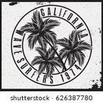 surf t shirt graphic | Shutterstock .eps vector #626387780