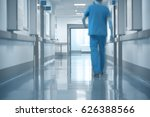 doctor walking on hospital... | Shutterstock . vector #626388566
