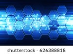 abstract technology concept.... | Shutterstock .eps vector #626388818