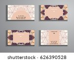 visiting card and business card ... | Shutterstock .eps vector #626390528