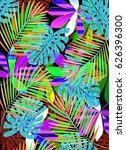tropical leaves   Shutterstock . vector #626396300