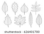 vintage set of hand drawn... | Shutterstock . vector #626401700