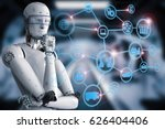 3d rendering android robot with ...   Shutterstock . vector #626404406