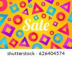bright sale banner background...   Shutterstock .eps vector #626404574