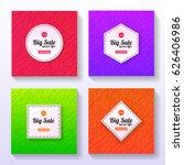 set of big sale banners.... | Shutterstock .eps vector #626406986