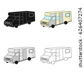 campervan icon in cartoon style ... | Shutterstock .eps vector #626407274