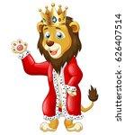 cute lion king cartoon. vector... | Shutterstock .eps vector #626407514