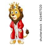 cute lion king cartoon. vector... | Shutterstock .eps vector #626407520