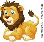cute lion cartoon. vector... | Shutterstock .eps vector #626407580