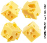 collection of cheese cube... | Shutterstock . vector #626408480