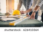 two business man construction... | Shutterstock . vector #626410364