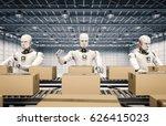 3d rendering robot working with ...   Shutterstock . vector #626415023