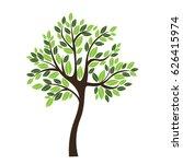 vector icon tree illustration... | Shutterstock .eps vector #626415974