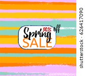 spring sale vector colourful...   Shutterstock .eps vector #626417090