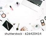 blogger or freelancer frame... | Shutterstock . vector #626420414