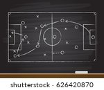 chalk hand drawing with soccer... | Shutterstock .eps vector #626420870