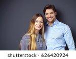 happy attractive young couple... | Shutterstock . vector #626420924