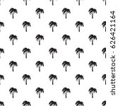 pattern with black palms | Shutterstock .eps vector #626421164