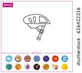 bike helmet icon   Shutterstock .eps vector #626422316