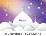ramadan kareem. arabic mosque ... | Shutterstock .eps vector #626422448