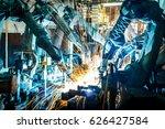 team welding robots represent... | Shutterstock . vector #626427584